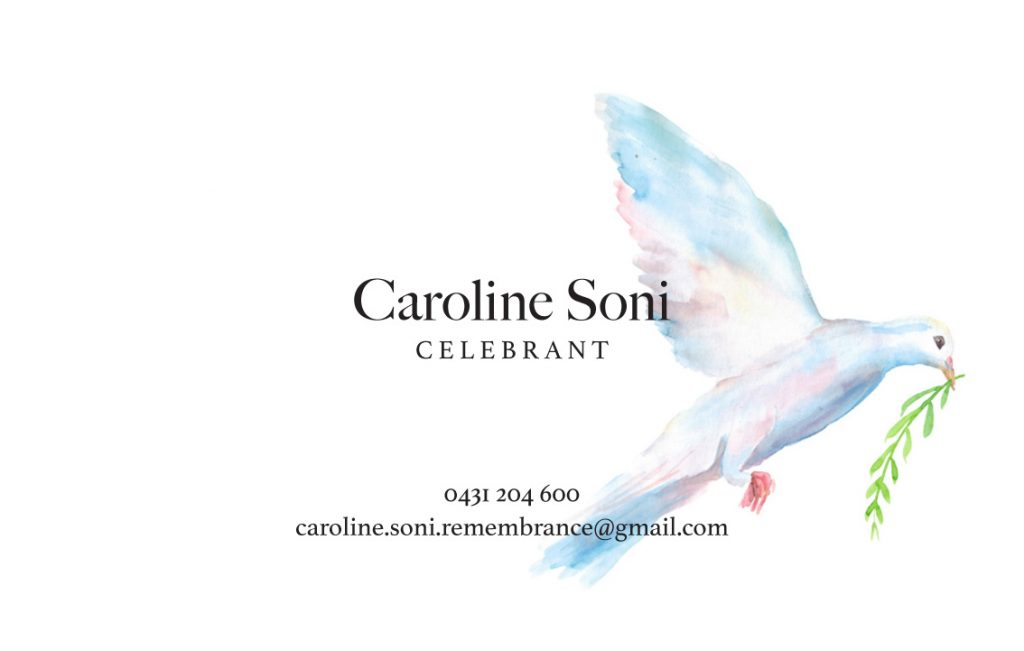 Caroline Business Card-1 Perth Graphic Design Web Design restaurant bar café